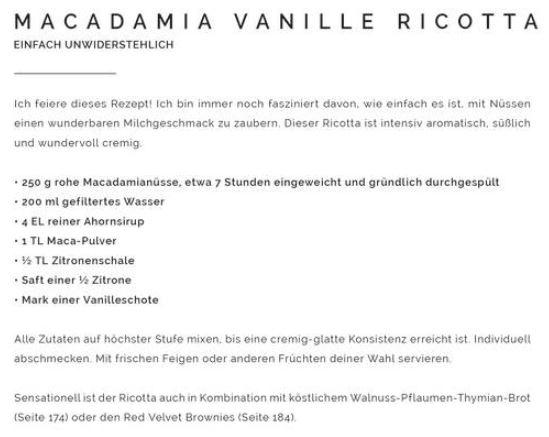 Rezept Mac. Ricotta